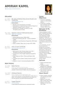 Relief Teacher Resume Samples - VisualCV Resume Samples Database Relief Teacher Resume Samples
