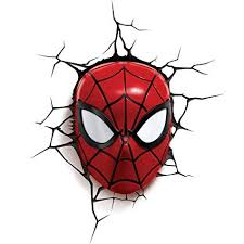3DLightFX Marvel Spiderman Mask 3D Deco Light ... - Amazon.com