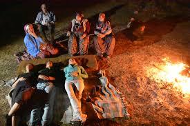 Perseid meteor yağmuru için kamp kurdular