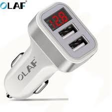 <b>Olaf Car Charger</b> 2.1A Fast Charging Dual USB Adapter For iphone ...