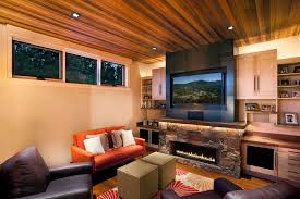 9 fireplace tv wall photograph for a contemporary living room with a orange throw awesome family room lighting