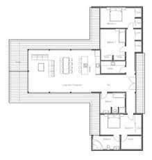 Small modern house plans  Small modern houses and Modern house    Modern Contemporary House Plan   three bedrooms and large windows  open planning