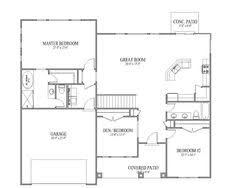 images about House plans on Pinterest   Ranch House Plans    Simple Small House Floor Plans   The Sadona Floor Plan   Signature Collection   Pepperdign Homes