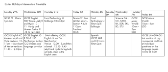 easter intervention timetable catmose college easter 2016 timetable crop