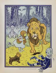 the wizard of oz a political allegory of populism writework dorothy meets the cowardly lion from the wonderful wizard of oz first edition