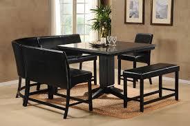 black kitchen dining sets: black kitchen table set square table and fur rug