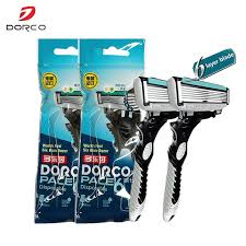 High Quality Dorco <b>Razor</b> Men <b>9 Pcs</b>/<b>lot</b> 6 Layer Blades <b>Razor</b> for ...