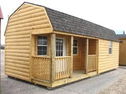 images about barn house plans on Pinterest   Gambrel Roof    barn plans   loft log   Log Cabin Portable Storage Building Sheds Barns Kansas