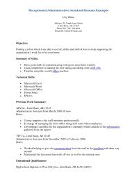 resume examples for housekeepingbest photos of veterinary cover letter receptionist resume samples dental receptionist veterinary receptionist resume