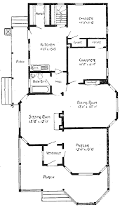 Victorian House Architectural Plan Simple Small House Floor Plans    Victorian House Architectural Plan Simple Small House Floor Plans