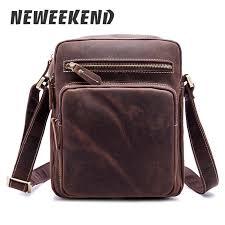 <b>NEWEEKEND Genuine Leather</b> Men'S <b>Bags</b> Small Shoulder ...