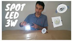 <b>SPOT</b> LED <b>3W</b> DE EMBUTIR - YouTube