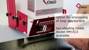 <b>STAGO HM 15</b> - automatic stapling machine - YouTube