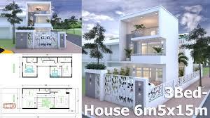 3Bed Modern Home Plan 6.5<b>x15m</b> Plot Size 8x24m - YouTube