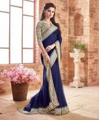 beauteous blue casual saree beauteous pink blue