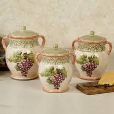 world tuscan kitchen canisters grape decor sanctuary wine kitchen canisters multi earth set of three