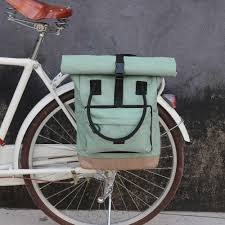 <b>Tourbon Retro</b> Canvas <b>Bike</b> Rear Seat <b>Pannier Bag Bicycle</b> Front ...