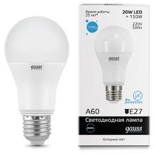 Характеристики модели <b>Лампа светодиодная gauss 23239</b>, E27 ...