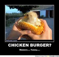 CHICKEN BURGER?... - Chick burger Meme Generator Posterizer via Relatably.com