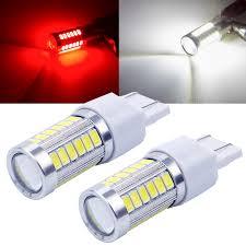 LYMOYO <b>2pcs</b> Strobe Flash T20 LED P21/5W <b>BAY15D</b> 1157 1156 ...