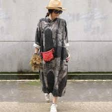 <b>Autumn New Retro</b> Cotton Linen <b>Loose</b> Gown Dress | MŮJ STYL ...