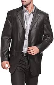 BGSD Men's Liam <b>3</b>-<b>Button</b> Lambskin <b>Leather</b> Blazer: Amazon.co.uk ...