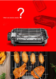 <b>Multi function Electric Grill Home</b> Indoor Electric Baking Pan ...