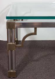 asian inspired glass top chrome coffee table with brass detail nyshowplacecom asian inspired coffee table