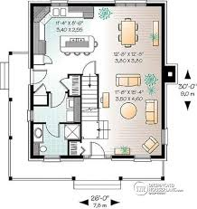 House plan W detail from DrummondHousePlans com st level Colonial small cottage house plan  open floor plan  kitchen island  main