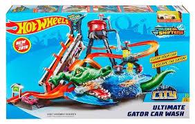 Трек <b>Hot Wheels City</b> Ultimate Gator Car Wash FTB67 — купить по ...