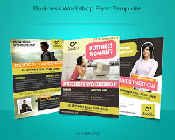 workshop flyer photos graphics fonts themes templates business workshop promotion flyer