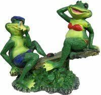 «<b>Садовая фигура Лягушки на</b> качелях 6036» — Садовый декор ...