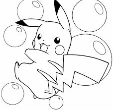 <b>Pikachu Cute</b> Pokemon Coloring Pages