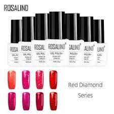 <b>ROSALIND</b> Gel 1S 7ml <b>Red</b> Diamond <b>Nail Polish</b> UV&LED Lamp ...