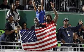 Image result for US men's basketball players watching women play