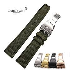<b>CARLYWET 22mm New</b> Genuine Leather Black Brown Crocodile ...