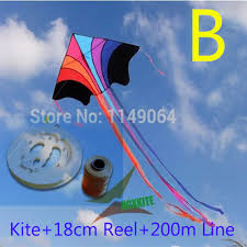 <b>free shipping high quality</b> flying rainbow kite with100m handle line ...