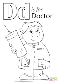 letter d is for doctor coloring page printable coloring pages click the letter d is for doctor