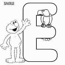 Small Picture ABC letter E Eagle Sesame Street Elmo coloring page Bella Bri