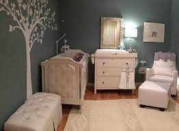 enough gray with all of the adorable elephant accents instead lynn painted the walls a blue gray color and chose to keep all of the furniture white adorable nursery furniture white accents