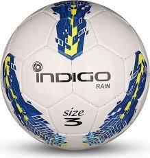 <b>Мяч</b> футбольный <b>Indigo</b> Rain, IN031, белый, синий, желтый ...