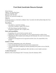 resume for hotel front desk no experience resume clerk sample x gallery of hotel front desk resume