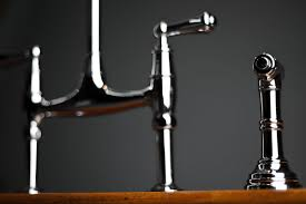 perrin rowe lifestyle: rohl perrin amp rowe bridge kitchen faucet with sidespray faucet handles