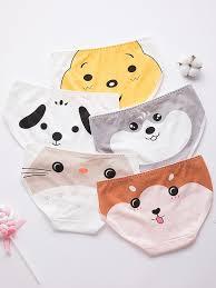 Buy Big Girl's <b>5</b> Pack Panties <b>Cute Cartoon</b> Animal Mid Waist Sweet ...