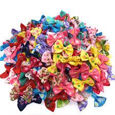 90 <b>100 Pcs</b>/<b>lot Mini</b> Small Pringting Ribbon Bow Pet Bowknot Craft ...