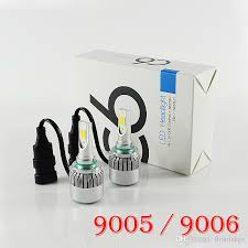 HOT <b>C6</b> 9006/HB4 <b>Auto Car LED Headlight</b> Bulb Fog Light 3800LM ...