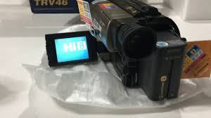 Brand <b>new Sony</b> Hi8 camcorder <b>ccd</b>-trv46 unboxing and test ...