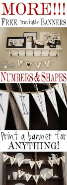 best ideas about printable banner printable more printable banners numbers shapes bannermake