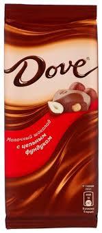 Купить <b>Шоколад Dove</b> молочный с цельным фундуком, <b>90</b> г по ...