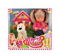<b>Кукла Dimian</b> Bambolina Нена с собачкой, 36 см, BD385 — купить ...